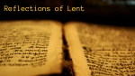 Reflections of Lent2